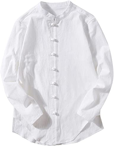 Fossen Casual Camisas para Hombres Camisetas de Manga Larga Blusas ...