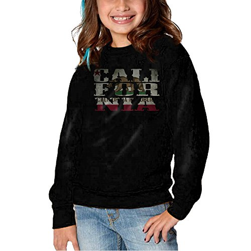 Price comparison product image Flag Of California State Cap Kids O-neck Pullover Hoodies 2-6 Toddler