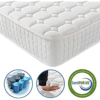 Vesgantti 9.4 Inch Multilayer Hybrid Twin Mattress - Multiple Sizes & Styles Available, Ergonomic Design with Breathable Foam and Pocket Spring/Medium Plush ...
