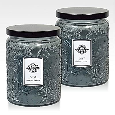 Aromatherapy Scented Candles - (flavor) - Two 16 Ounce Glass Mason Jar Candles with a 100 Hour Burn Time - A Great Gift and Beautiful Decor Piece!