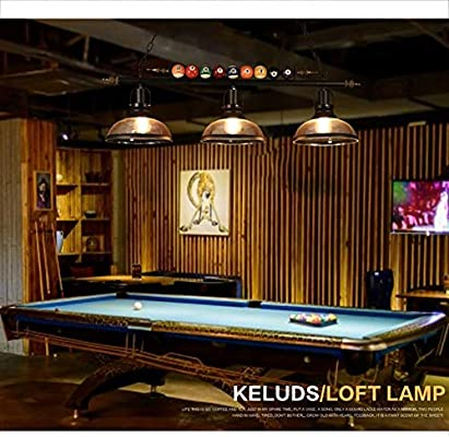 XUMINGDD Retro Loft Araña de Hierro Art Billar Decoración 3 Luces Araña para Billar Hall Cafe Bar Restaurante Casa Club decoración lámpara 38.6 * 39 Pulgadas: Amazon.es: Hogar