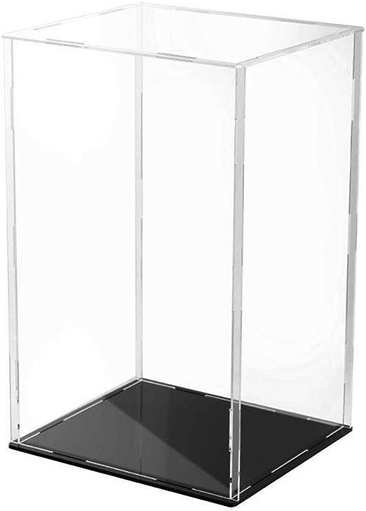 Shefii - Caja expositora de acrílico Transparente con Base Negra a ...