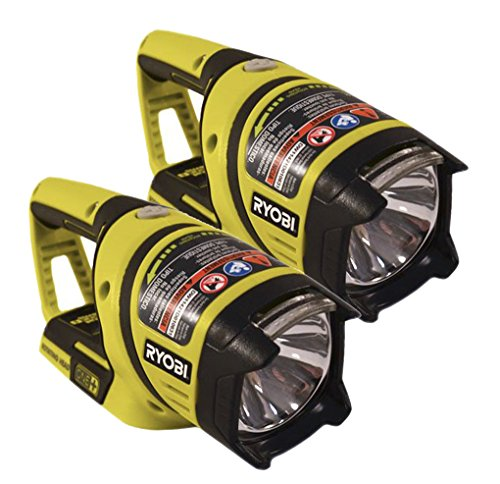 Ryobi P704 (2 Pack) 18v One+ Lithium Ion Work Light (Battery and Charger Not Included) by Ryobi