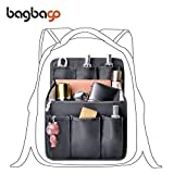 bag in bag Multi-functional Contrast Bag Shoulders Bag Rucksack Insert Backpack Organizer,Black