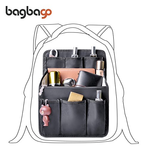 bag in bag Multi-functional Contrast Bag Shoulders Bag Rucksack Insert Backpack Organizer,Black by BES CHAN