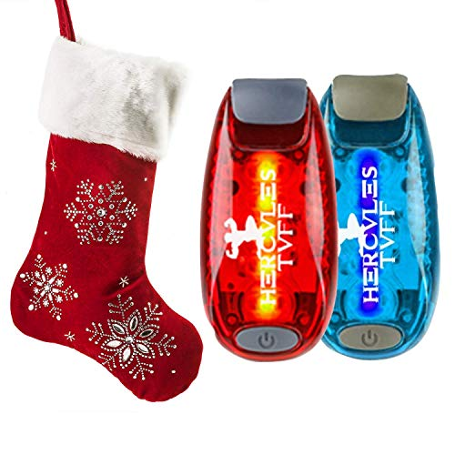 Hercules Tuff Safety Lights for Kids [2-Pack] | Running Lights for Runners | Excellent Stocking Stuffer idea for Kids, Teens, Dog Walkers, Bikers & More!