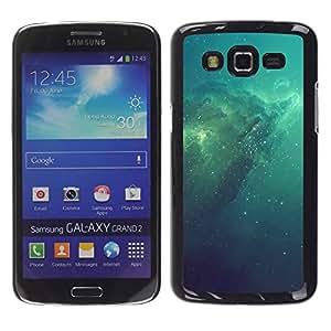Azul Espacio Galaxy - Metal de aluminio y de plástico duro Caja del teléfono - Negro - Samsung Galaxy Grand 2