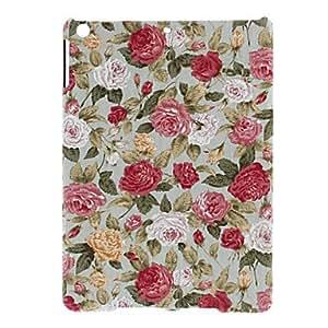CL - Serie Flores Peonías Encanto Patrón Hard Case de textiles para iPad Aire