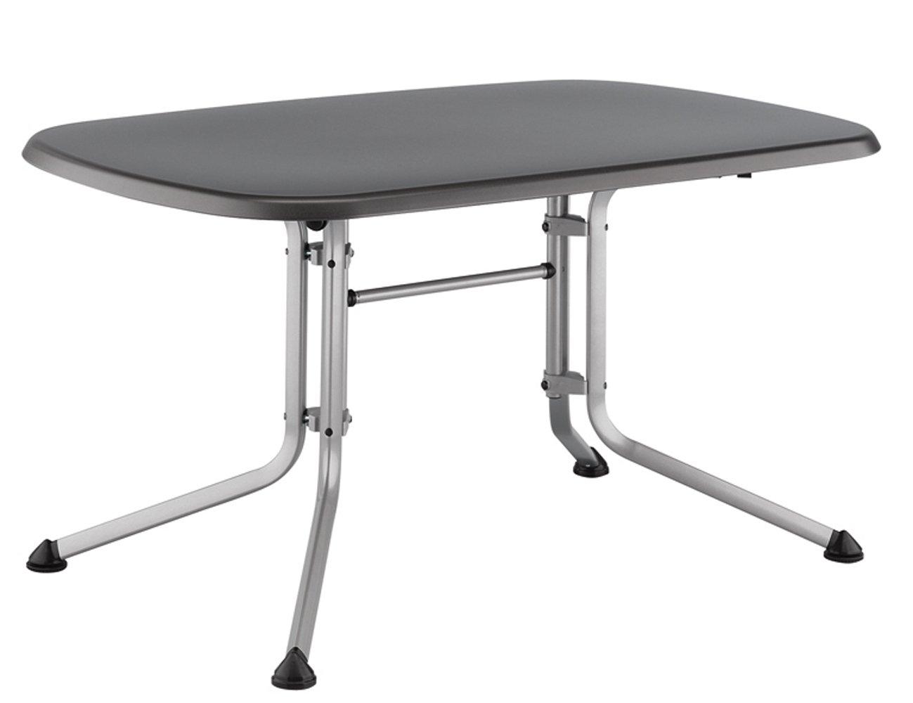 Kettler Balkontisch.Kettler Gartentisch Oval 140x90cm Silber Eisengrau Aluminiumgestell Silber Kettalux Plus Platte