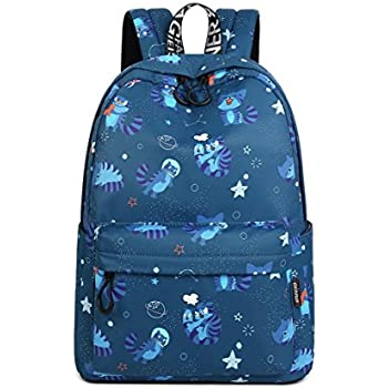 Joymoze Waterproof Fashion Print Backpack Cute School Book Bag for Boy and Girl (Lake Blue)