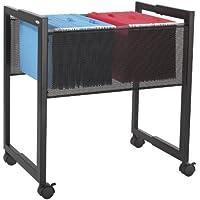Safco Products 5352BL Steel Adjustable Mobile File, Letter or Legal Size, Black