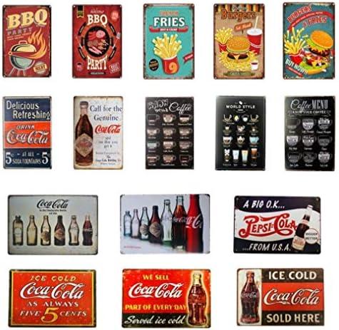 Coca Cola Blechschild T/ürschild Deko Be refreshed Schild Retro
