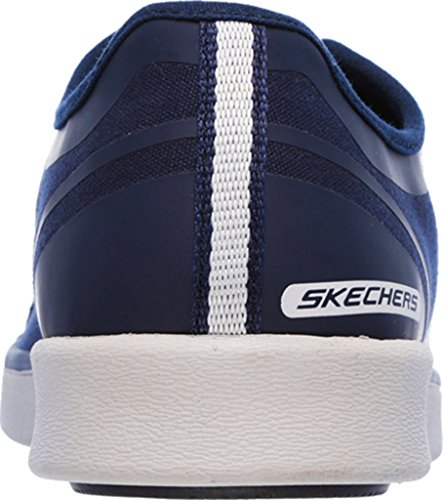 Skechers Mens Classic Fit Boyar - Tela Blu Navy