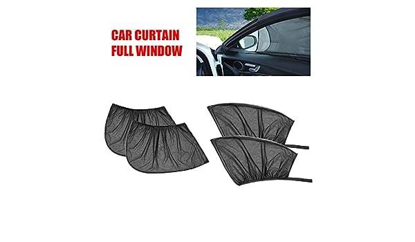 Puremood Car Curtain Summer Sunshade Mesh Breathable Sun Block Sunscreen Curtain Net Window Cover for Side Window