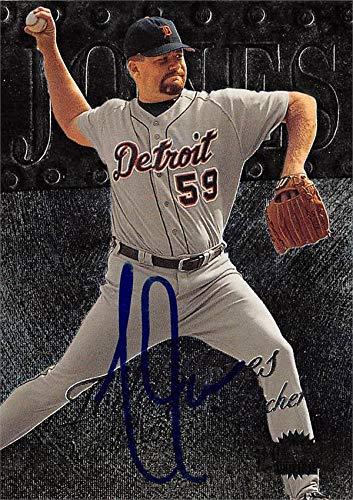 Todd Jones autographed Baseball Card (Detroit Tigers, SC) 1999 Skybox Metal Universe #150 - NFL Autographed Football Cards ()