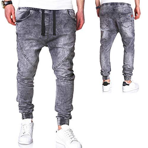 Modoqo Men S Straight Leg Jeans Fashion Casual Vintage Elastic Wash Disstressed Denim Pants Gray Cn M Us Xs At Amazon Men S Clothing Store