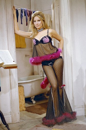 Barbra Streisand The Owl and The Pussycat Black See-Thru Nightgown 24X36 Poster (Barbra Streisand Poster)