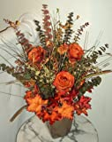Autumn/Fall Sienna Silk Rose Floral Arrangement, Centerpiece, Decoration