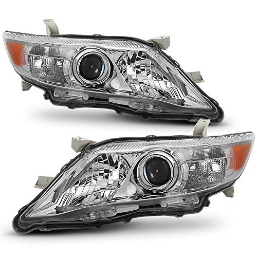 ACANII - For Replacement US Built Model 2010-2011 Toyota Camry Projector Headlights Headlamps Driver + Passenger ()
