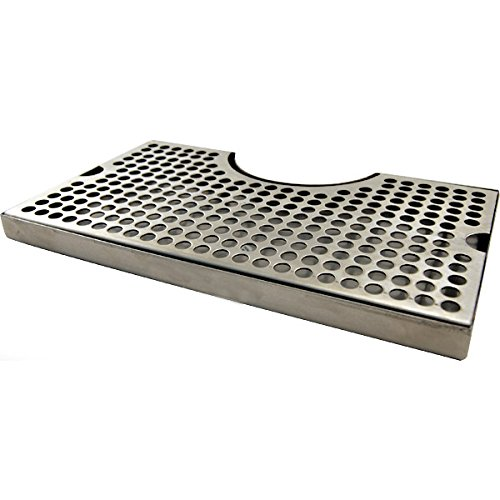 1-X-12-Surface-Mount-Kegerator-Beer-Drip-Tray-Stainless-Steel-Tower-Cut-Out-No-Drain