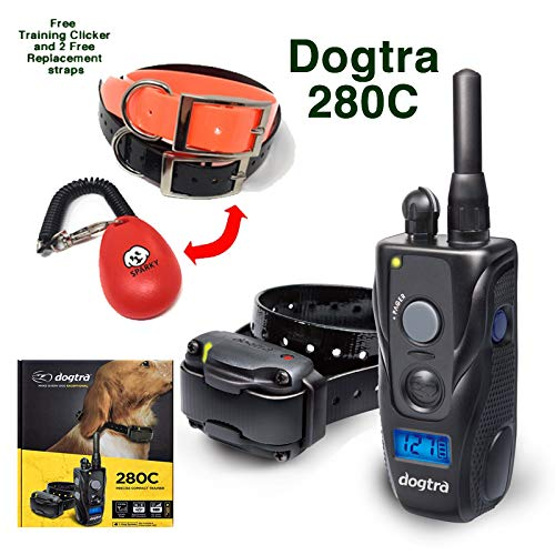 - dogtra-280C with 2 Free Straps and Dog Training clicker