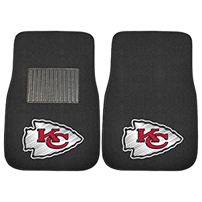 "FANMATS 20601 NFL - Kansas City Chiefs Embroidered Car Mat , Team Color, 17""x25.5"""
