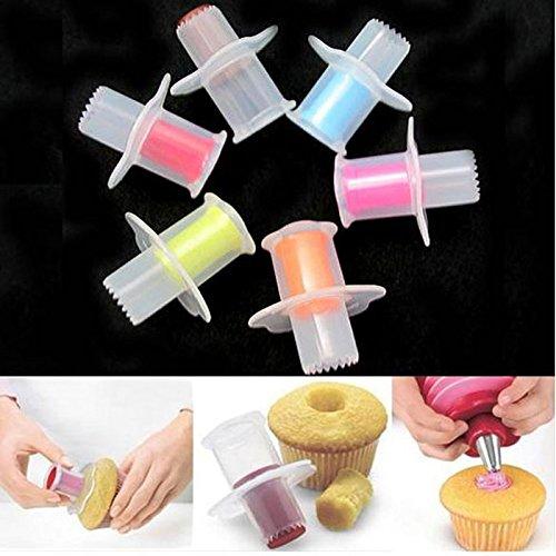 Cupcake Decorating Kit Cupcake Batter Dispenser - Bakeware Cupcake Core Remover Cake Cupcake Plunger Corer Cake Decorating Tool Set Kitchen Baking Accessories - Cupcake Decorating Supplies