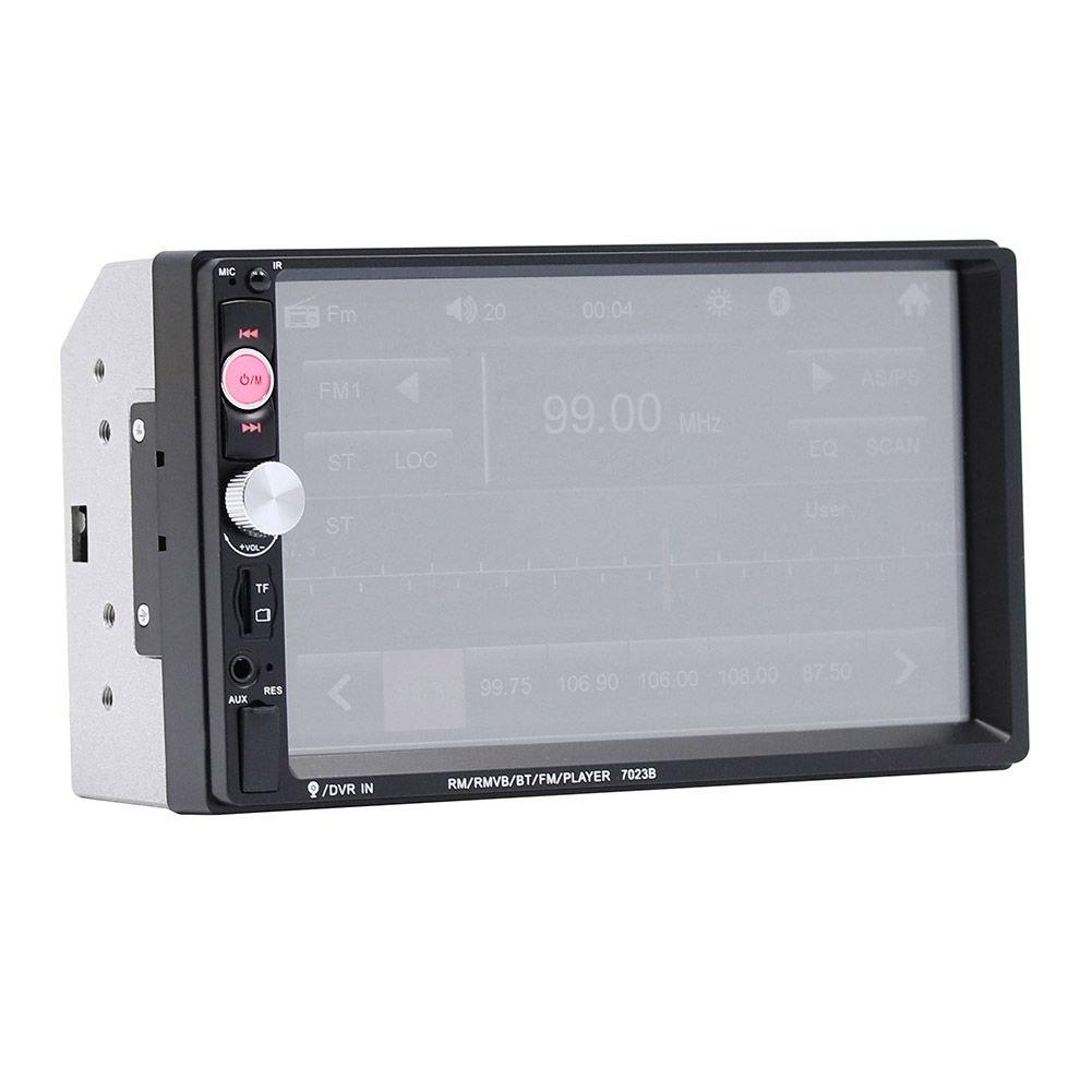 SODIAL 7023B 2 din auto audio lettore multimediale stereo Touch screen da 7 pollici Supporto lettore MP5 HD Bluetooth Camera FM USB Aux Giocatore di auto