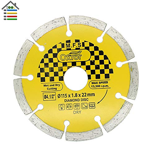 1 piece 115mm/4.5 Diamond Angle Grinder Grinding Stone Wheel Brick Concrete Dry and Wet Cutting Disc 1.8mm Thickness