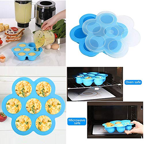 14pcs Accessories for Instant 6 QT&8QT, Steamer Basket, Silicone Bites Mold, Egg Rack,Non-Stick Springform Pan,Food, Pot Tong, Oven Mitts, Oi, 6QT&8QT by Chiyan by Chiyan (Image #2)