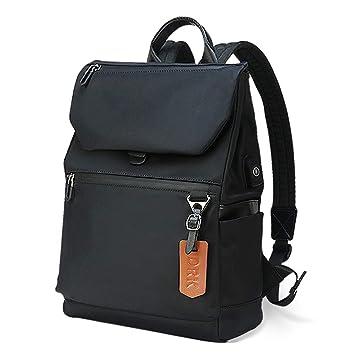 a9d463a18c Sac à Dos Ordinateur 14 Pouces avec USB de Charge Sac Port Imperméable Portable  Sac à
