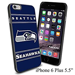 """NFL SEATTLS SEAHAWKS , Cool iPhone 6 Plus (6+ , 5.5"""") Smartphone Case Cover Collector iphone TPU Rubber Case Black"""