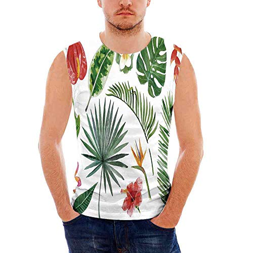 Mens Plant Tank Top Sleeveless Tees All Over Print Casual T  Shirts Diverse Coll