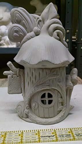 Amazon Com Wing Repair Fairy House Unpainted Ceramic
