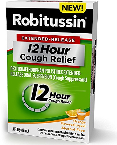 Robitussin Extended-Release 12 Hour Cough Relief, Orange 3 oz (Pack of 2)
