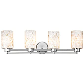 Bathroom Light with Mosaic Glass - Four Lights - Vanity Lighting ...