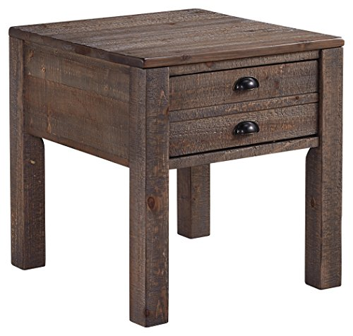 Signature Design by Ashley T878-3 Keeblen End Table, Grayish Brown (Pulls Pewter Pine)