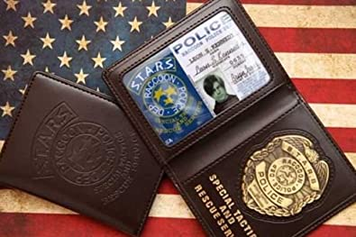 Resident Evil S.T.A.R.S RPD cartera ID Holder Biohazard Leon S. Kennedy Wesker Chris PS4 Cosplay: Amazon.es: Joyería