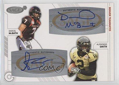 Darcel McBath; Alphonso Smith (Football Card) 2009 SAGE Squared - Autographs - Squared 54