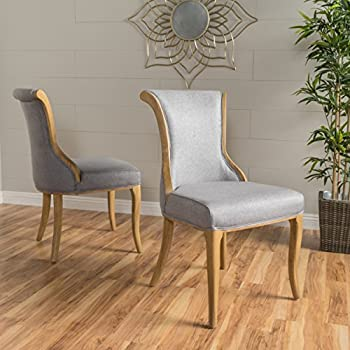 Luther Grey Fabric Dining Chair (Set of 2)