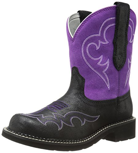 Ariat Frauen Fatbaby Sammlung Western Cowboy Boot Rauhes Schwarz / Fuchsia