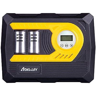 Air Compressor Tire Inflator Digital – Portable Auto Air Compressor 12 Volt DC Pump to 100 PSI from Aokway
