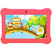 Tagital® 7 T7K Quad Core Android Kids Tablet, with Wifi and Camera and Games, HD Kids Edition with Kid Mode Pre-Installed Pink