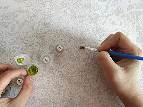 Neige Moderne paing 40x50 cm Peinture de num/éros Peinte /à la Main sur Toile peintures Animation Huile JUAMAZING Peinture Murale sans Cadre Reine Abstrait