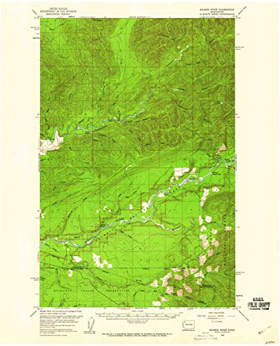 (YellowMaps Salmon River WA topo map, 1:62500 Scale, 15 X 15 Minute, Historical, 1956, Updated 1960, 21 x 17 in - Paper)