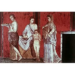 Villa Of The MysteriesThe Reading Of The Ritual And The Sacrifice C 50 BC Roman Art Fresco Villa of the Mysteries Pompeii Italy Poster Print (24 x 36)