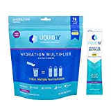 Liquid I.V. Hydration Multiplier, Electrolyte Powder, Easy Open Packets, Supplement Drink Mix (Acai Berry) (16)