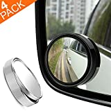 """RearX Blind Spot Mirror, 2"""" Round 360 Degree Adjustable HD Glass and ABS"""