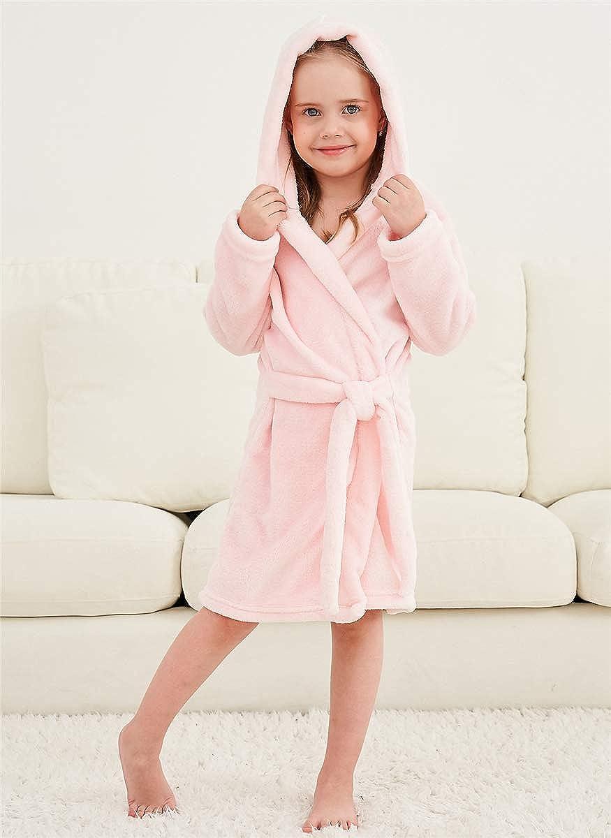 Women XL Boys Girls Toddler Baby Flannel Soft Bathrobes 18 Months Betusline Kids /& Adults Robe