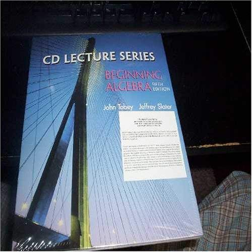 CD Lecture Series: Beginning Algebra, Fifth Edition